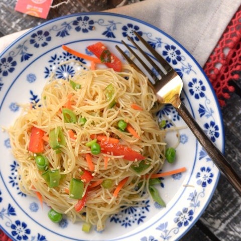 Sesame Noodle Salad with Sugar Snap Peas