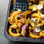 glazed sheet pan delicata squash and pears