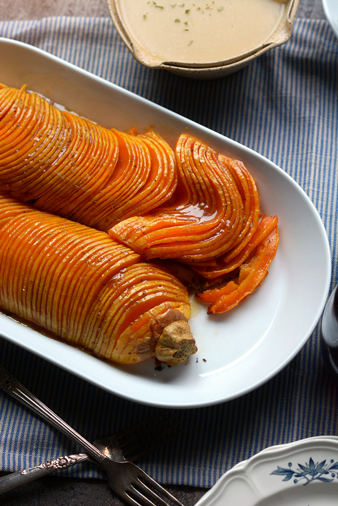 Spiced Hasselback Butternut Squash