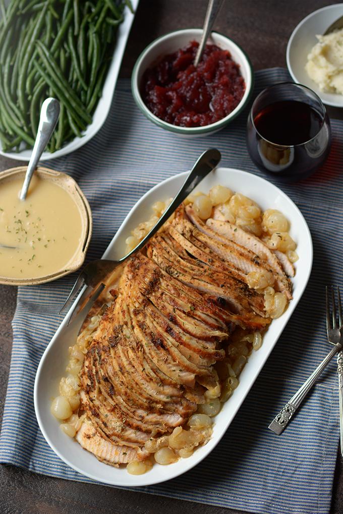Slow Cooker Boneless Turkey Breast with Gravy