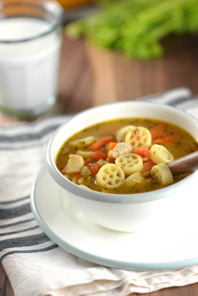 Bowl of Semi-Homemade Chicken Noodle Soup