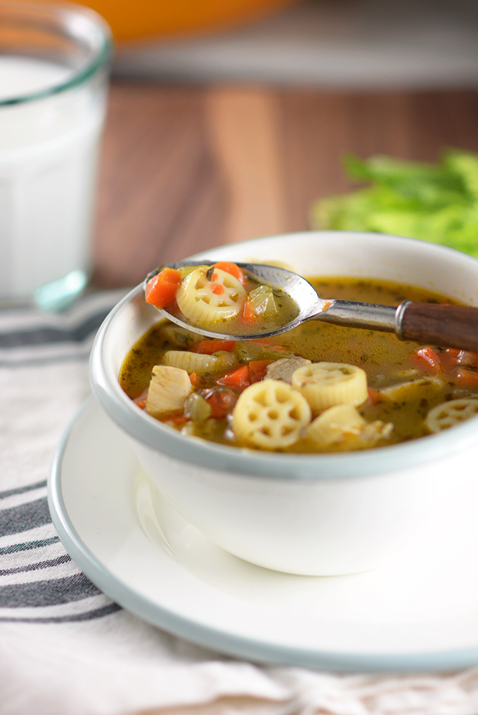 Spoonful of Semi-Homemade Chicken Noodle Soup