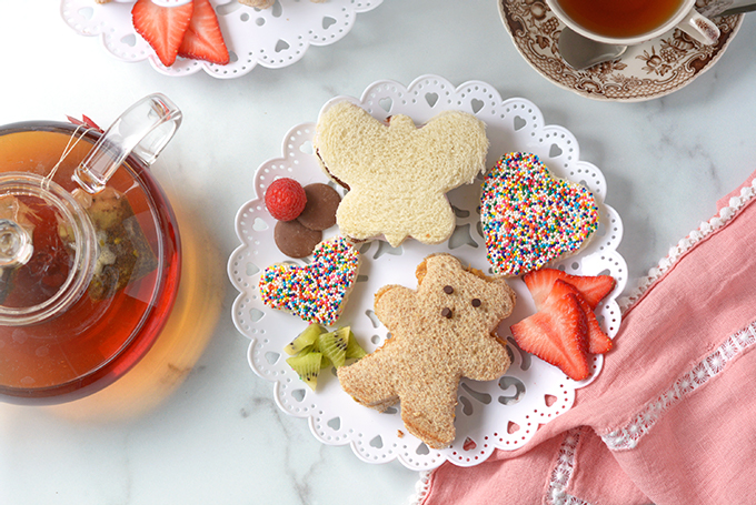 3 Kid's Tea Party Sandwiches Horizontal Images