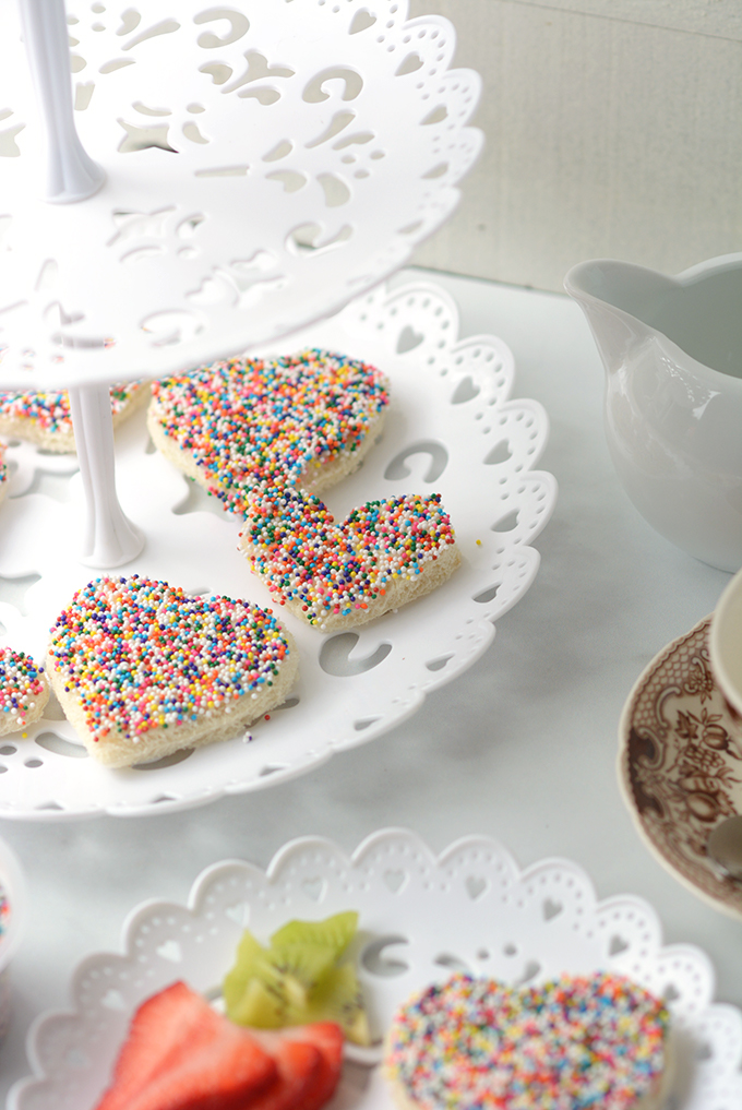Fairy Bread on a Tea Party Tiered Tray