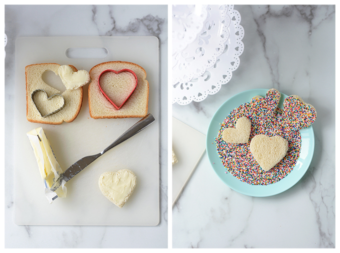 How to Make Heart Shaped Fairy Bread