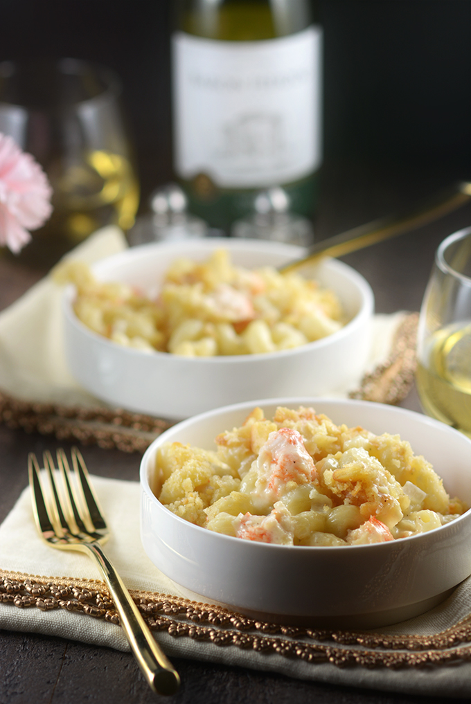 Table Set with Langostino Mac 'n Cheese