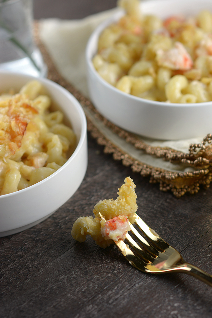 Fork Full of Langostino Mac 'n Cheese