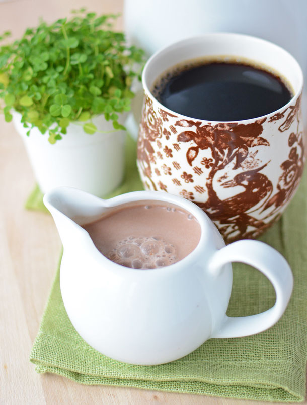 All natural Irish coffee creamer