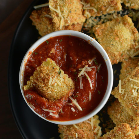 Oven Baked Ravioli Dippers