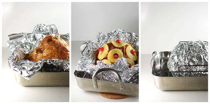 Assembling Honey Baked Pineapple Ham