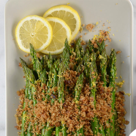 Asparagus with Shallot Bread Crumbs