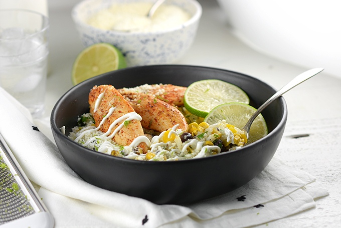 Horizontal Picture of Cilantro Lime Chicken and Rice