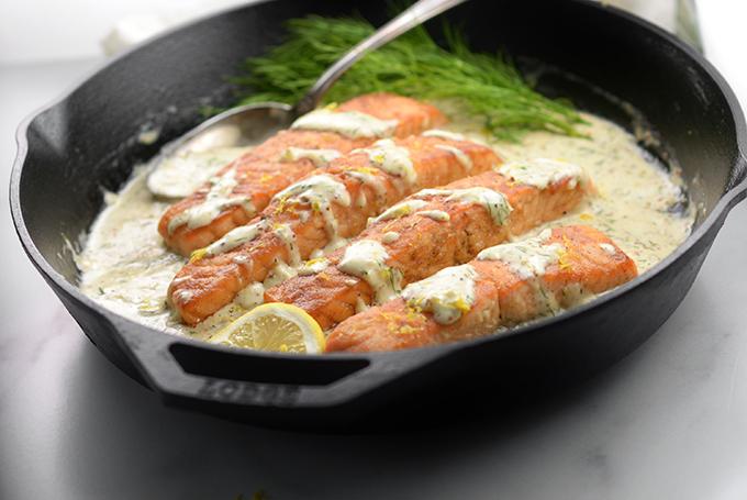 Creamy Lemon Dill Salmon