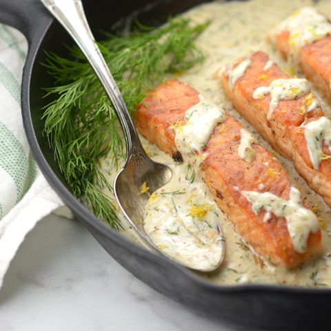 Creamy Lemon Dill Salmon
