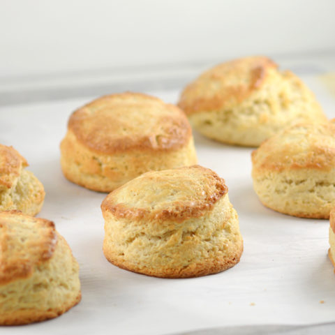 English Style Scones on Baking Sheet