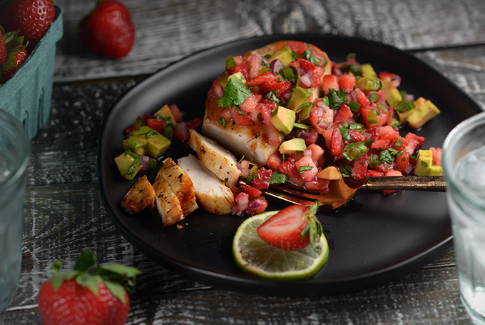 Grilled Chicken and Strawberry Salsa