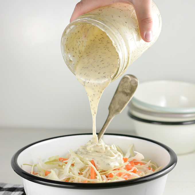 Dressing for 14-16 oz Bag of Coleslaw Mix