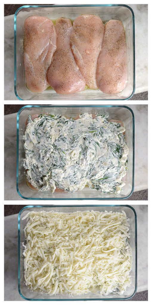 How to Make Creamy Mozzarella and Spinach Baked Chicken