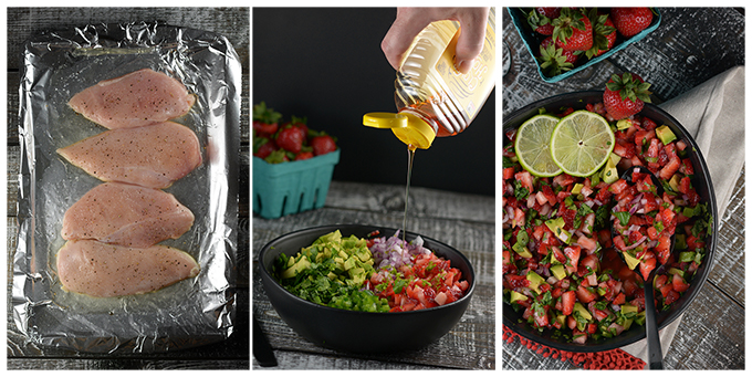 How to Make Grilled Chicken and Strawberry Salsa