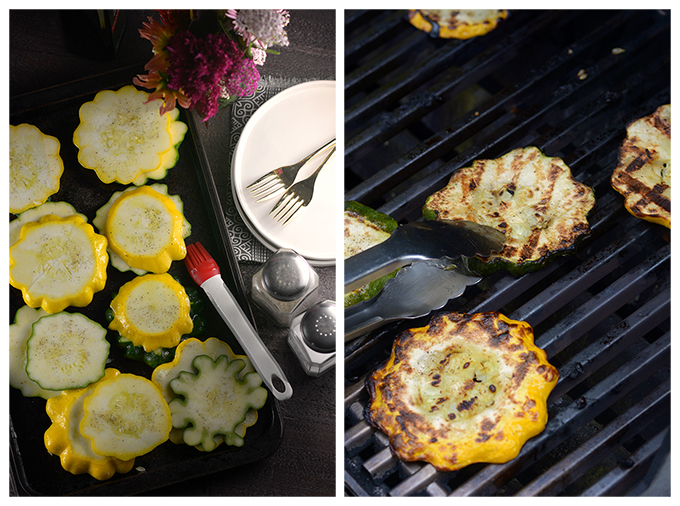 Grilled Patty Pan Squash