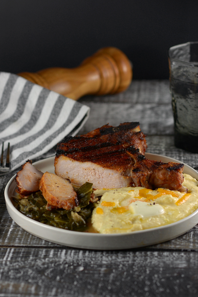 Grilled BBQ Dry Rubbed Pork Chops