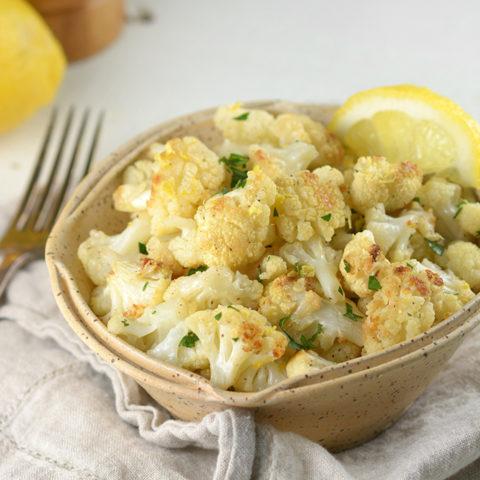 Lemon Pepper Roasted Cauliflower Florets