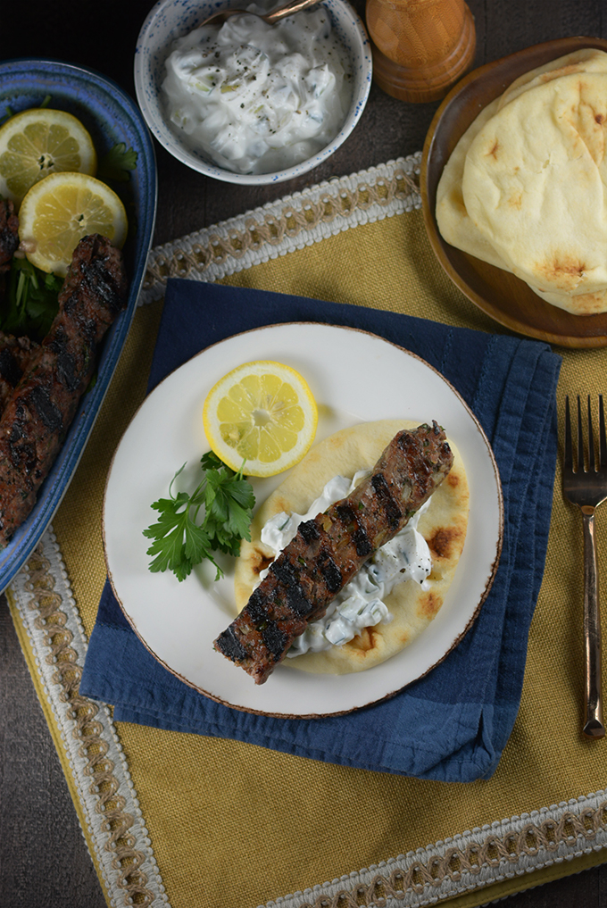 Middle Eastern Grilled Lamb Kebabs