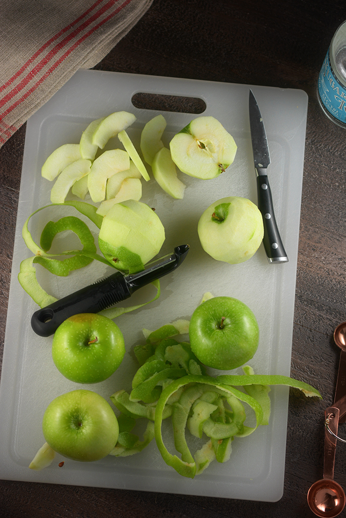 Peeling and Cutting Souther Fried Apples