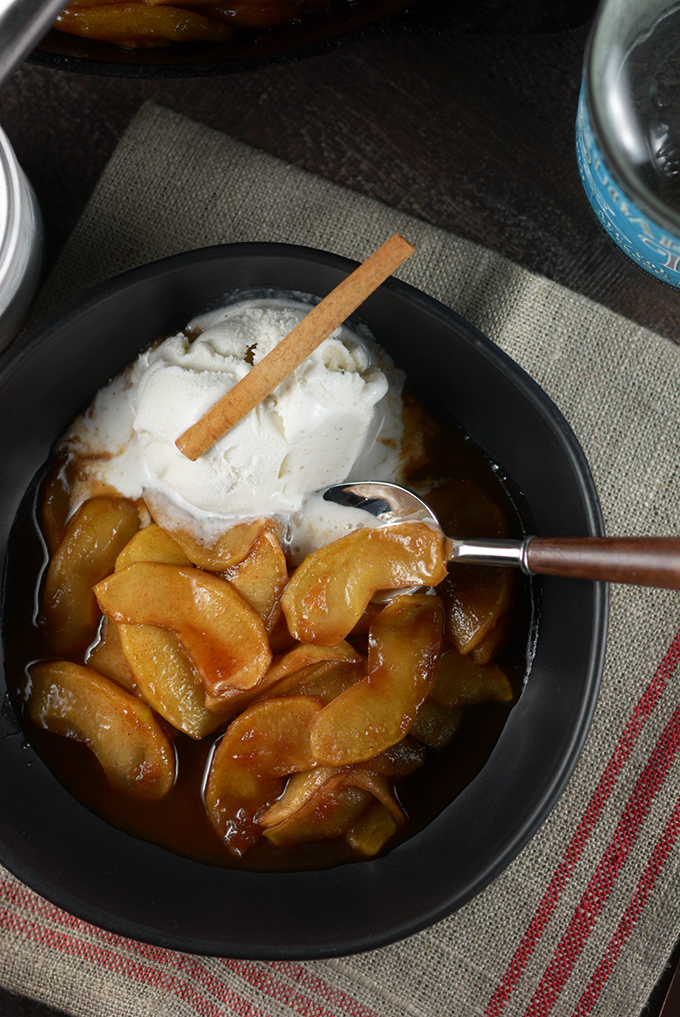 Overhead Bowl of Southern Fried Apples