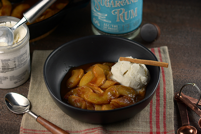 Southern Fried Apples with Ice Cream