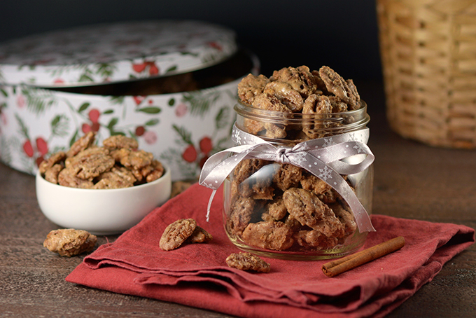 Cinnamon Sugar Candied Pecans