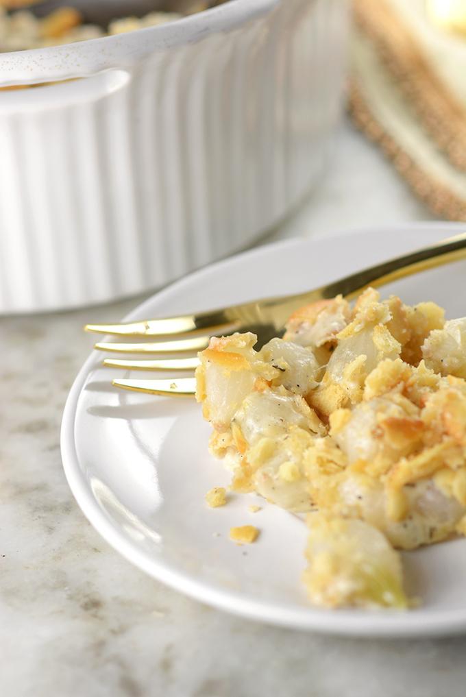 Creamy Pearl Onion au Gratin