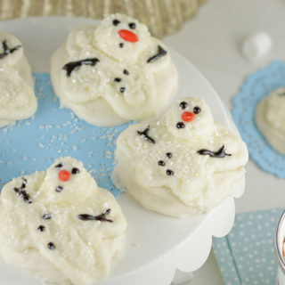Soft Batch Melting Snowman Buttercream Sugar Cookies