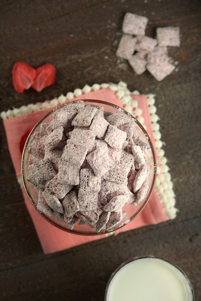 Chocolate and Real Strawberry Puppy Love Chow
