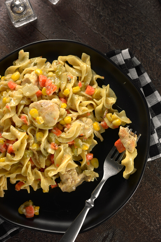 Creamy Chicken and Egg Noodles