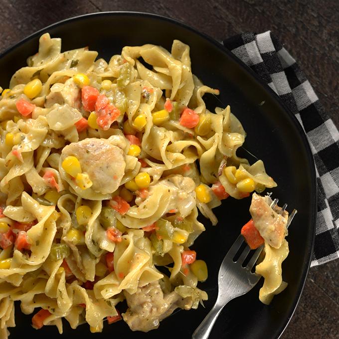 Creamy Chicken Egg Noodles