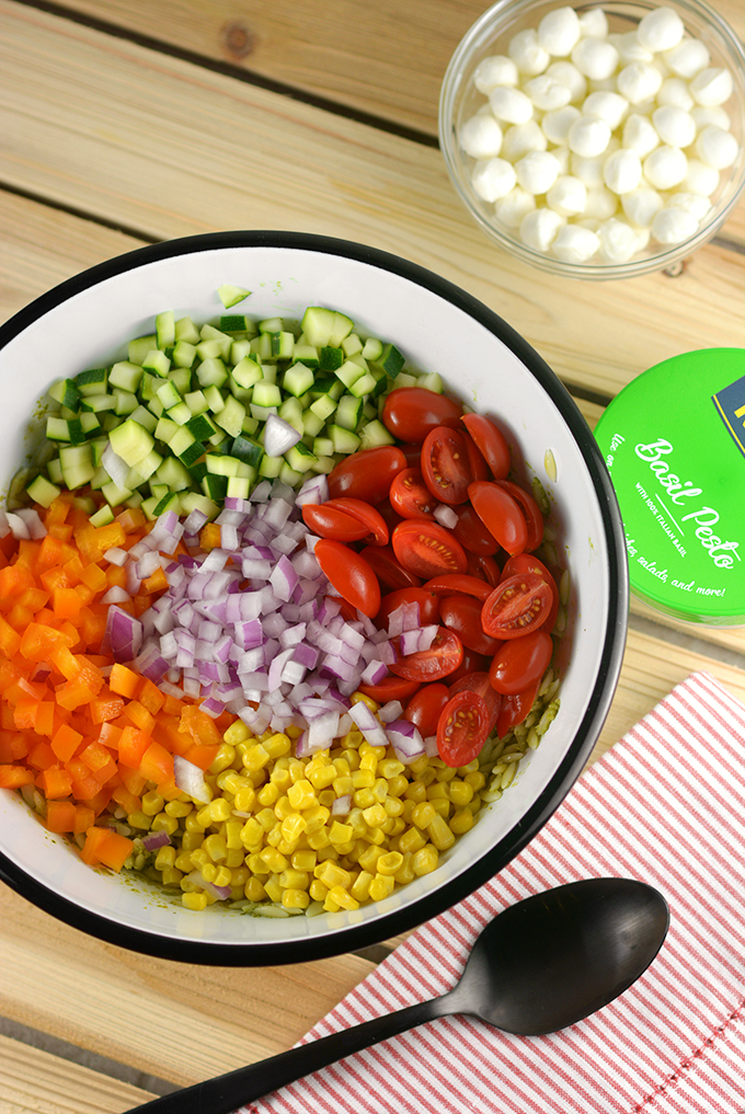 How to Make Pesto Orzo Pasta Salad